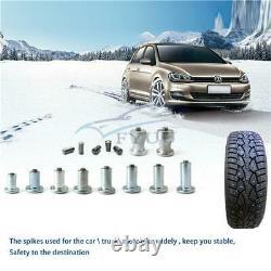 1000PCS Car Tires Studs Screw Tyre Snow Chains Studs Tire NailRed Air Gun Tool