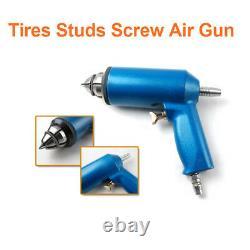1x Pneumatic Air Pressure Gun Tool + 1000x 8mm Car Snow Tire Screw Stud Ice Nail