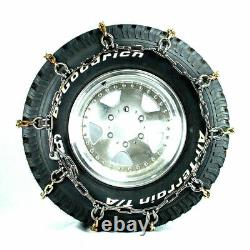 Titan Alloy Square Link Tire Chains On/Off Road Ice/SnowithMud 8mm 315/75-16