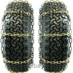 Titan Alloy Square Link Tire Chains On/Off Road Ice/SnowithMud 8mm 37x12.50-20