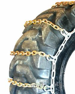 Titan Alloy Square Link Tractor Tire Chains Ice Snow Mud 10mm 9.5-18