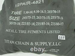 Titan Chain Snow Chains for Dual Tires 225/85-16 235/80-17 235/85-16 245/75-15