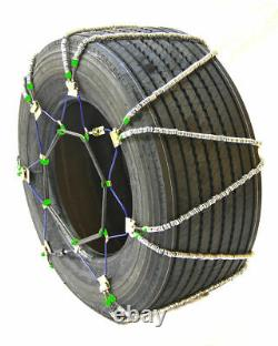 Titan Diagonal Cable Tire Chains SnowithIce Covered Roads 17.64mm 445/50-22.5