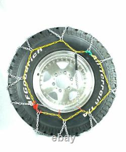 Titan Diamond Alloy Square Tire Chains On Road SnowithIce 3.7mm 265/70-17