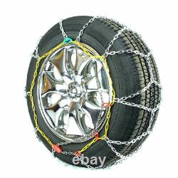 Titan Diamond Pattern Alloy Square Tire Chains OnRoad SnowithIce 3.7mm 215/45-18