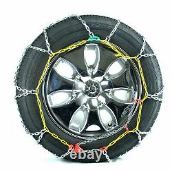 Titan Diamond Pattern Alloy Square Tire Chains OnRoad SnowithIce 3.7mm 215/70-16