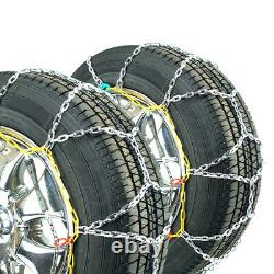 Titan Diamond Pattern Alloy Square Tire Chains OnRoad SnowithIce 3.7mm 225/55-17
