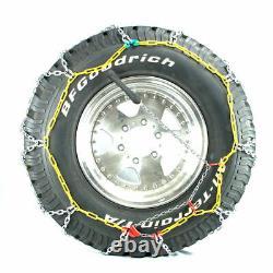 Titan Diamond Pattern Alloy Square Tire Chains On Road Snow 4.7mm 31x10.50-15