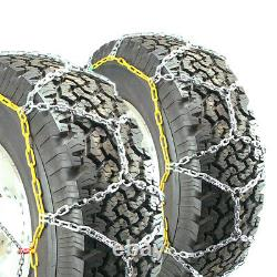 Titan Diamond Pattern Alloy Square Tire Chains On Road Snow 4.7mm 35x12.50-17