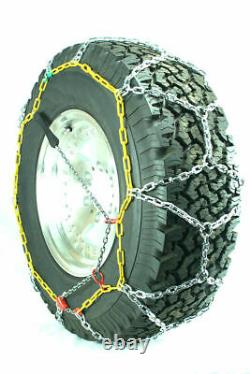 Titan Diamond Pattern Alloy Square Tire Chains On Road Snow 4.7mm 35x12.50-20