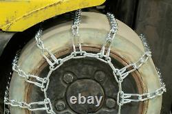 Titan Fork Lift Link Tire Chains 2-Link Spacing SnowithIce/Mud 5.5mm 6.50-10