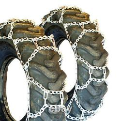 Titan H-Pattern Tractor Link Tire Chains Snow Ice Mud 10mm 12.4-16