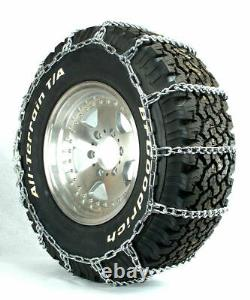 Titan Light Truck Link Tire Chains On Road SnowithIce 5.5mm 10-16.5