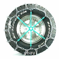 Titan Light Truck V-Bar Tire Chains Ice or Snow Covered Roads 7mm 225/70-22.5