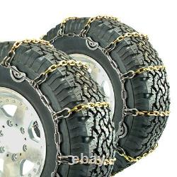 Titan Truck Alloy Square Link Tire Chains CAM On Road IceSnow 7mm 295/70-17