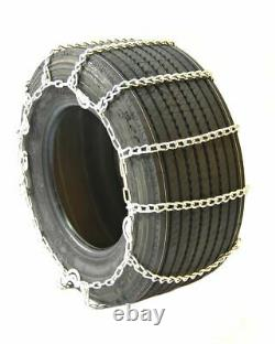 Titan Truck Link Tire Chains Wide/Dual CAM On Road SnowithIce 8mm 445/50-22.5