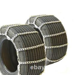 Titan Truck Link Tire Chains Wide/Dual CAM On Road SnowithIce 8mm 445/55-22.5