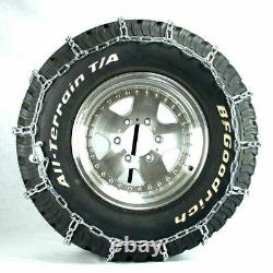 Titan Truck Link Tire Chains Wide/Dual Mount On Road SnowithIce 8mm 15-19.5