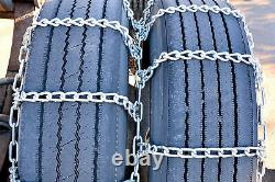 Titan Truck Tire Chains Dual/Triple On Road SnowithIce 5.5mm 235/75-17.5