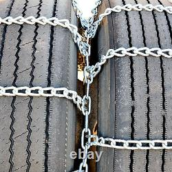 Titan Truck Tire Chains Dual/Triple On Road SnowithIce 5.5mm 245/75-17