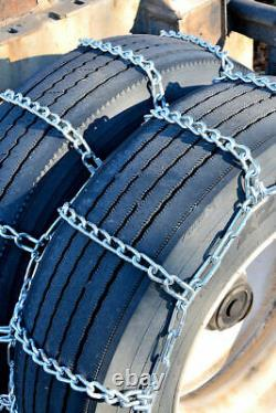 Titan Truck Tire Chains Dual/Triple On Road SnowithIce 5.5mm 255/75-17