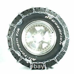 Titan Truck V-Bar Link Tire Chains Dual CAM On Road Ice/Snow 7mm 11-22.5