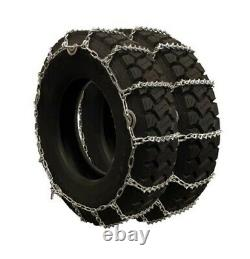 Titan Truck V-Bar Link Tire Chains Dual CAM On Road Ice/Snow 7mm 245/70-19.5