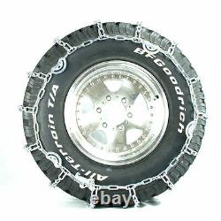 Titan Truck V-Bar Link Tire Chains Dual CAM On Road Ice/Snow 7mm 255/70-22.5