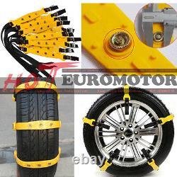 10pcs Car Snow Tire Anti-skid Chains Thickened Beef Tendon Auto Wheel Tpu Chain