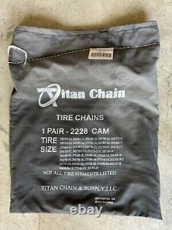 Chaîne Titan Snow Tire Chaînes Avec Cams Ladder Pattern V-bar Lien 1 Paire