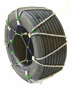 Chaînes De Pneus De Câble Diagonal Titan Snowithice Routes Couvertes 17.64mm 445/50-22.5