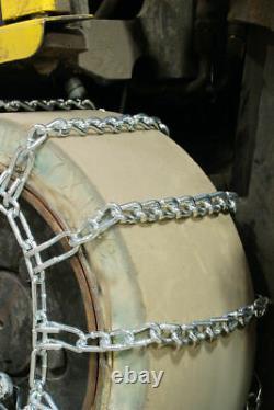 Chaînes De Pneus De Liaison De Levage De Fourche Titan 2-liens En Relief Snowithice/mud 5,5mm 8.25-15