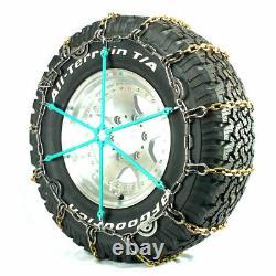 Titan Alloy Square Link Truck Cam Chaînes De Pneus Sur La Glace De Route / Neige 5,5 MM 265/75-16